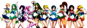Sailor Senshi by GrimbySlayer