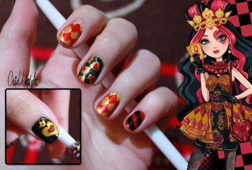 Lizzie Hearts Nail Design by iCrisUchiha