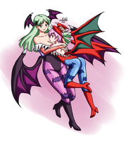 [TRADE] Morrigan and Lilith by PaulGQ