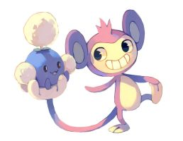 Aipom and Jumpluff
