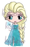 Elsa Chibi by IcyPanther1