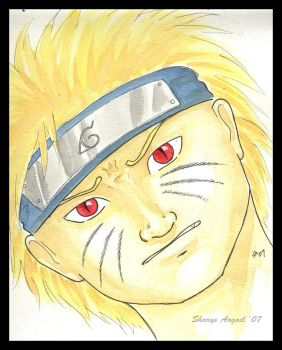 Naruto Portrait- Watercolors by SharysAogail