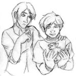 K: Brothers with Kitten by littledinosaurarms