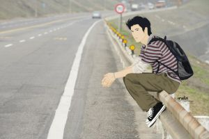 Leehom the Hitch Hiker by iruka11