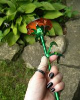 Soda Can Rose: Size Comparison by Christine-Eige