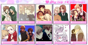My top 10 Hetalia pairings by Talitah