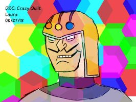 Daily Sketch Challenge: Crazy Quilt by subatomiclaura