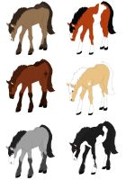 Clyde Foal Adopts by MonsoonWolf