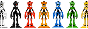 Robot Color Schemes by B0XAB0T