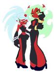 Scanty and Kneesocks - Formal Dress by Moheart7