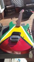 Guyana Golden Arrow flag guitar commission by moose-lee