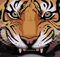 Vector Tiger by OddballOreo
