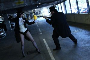 Zatanna VS Penguin by Leonie-Heartilly