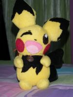 Pichu plush by Julika-Nagara