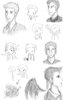 Supernatural Sketchdump by musicalirony