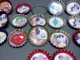Sparity Spike Rarity Bottle Cap Set by lcponymerch