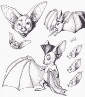 Bat sketches by ewedy2