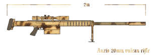 Anzio 20mm Vulcan Rifle by BroInArm