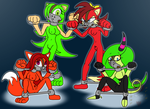 Commission: Four Way Trouble. by Brother-Orin