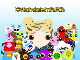 loveandasandwich wallpaper1 by to-much-a-thing