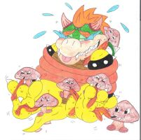 Bowser Tickle Torture Goomba Feather Ambush by KnightRayjack