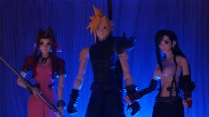 Cloud, Aeris and Tifa by Videoboysayscube