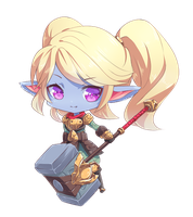 Chibi Poppy - League of Legends by Kairui-chan