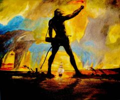 Colossus of Rhodes by LEV-ofAuTumn
