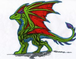 green dragon by atrafeathers