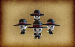 3D Toy Calaveras by IgorSan