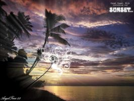 Sunset Created Whit Gimp by AngelTimi88