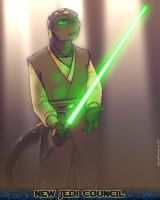 Aabon as Jedi by NalaFontaine
