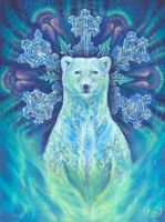Guardian of Aurora - painting by Ka Amorastreya by serpentfeathers