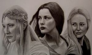 The Women of Middle Earth by Y-LIME
