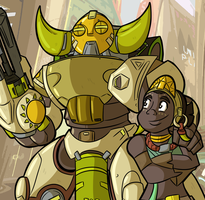 NEW OVERWATCH HERO - ORISA by MichaelJLarson