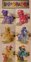 Mane 6 Crystal Empire Collection by Elyneara