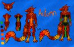 Autumn the Sergal: reference sheet by sheepylizzy