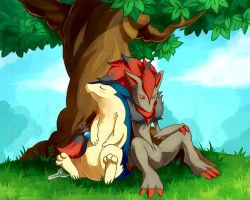 [Commission] - Under a shade tree by LazyAmphy