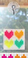 Color Love Sun-Catcher -- Perler Pattern by Akanthea