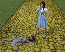 Dorothy finds a broken raggedy doll by AmethystPendant