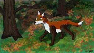Fox in Autumn by foxstory