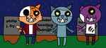 Futurama meow three zombie kittens by AlternateReality56