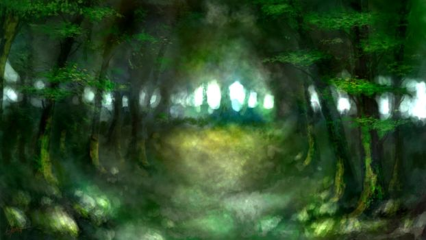 Brushes Experiment - Forest by Daimera