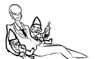 Light Yagami Getting Drunk With Two Dwarfs And Hav by TheNoodleGod2012