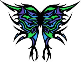 Tribal Butterfly Edit by Gingerifical