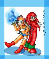 Knuckles e Shani by cuteychao