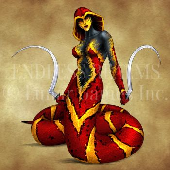Endless Realms bestiary - Lamia by jocarra