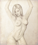 Pin-up on parchment by DionicioTerrones
