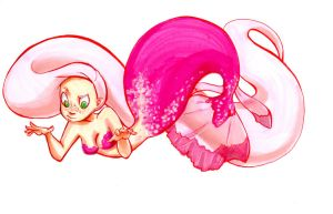 Pink Spotted Mermaid by shedano