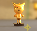 Golden Mogeko trophy by CeleCrypt